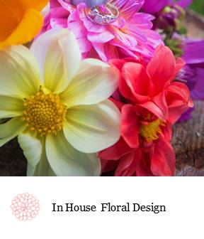 Dahlia flowers and rings