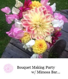 Sweet pea and Dahlia Wedding Bouquet